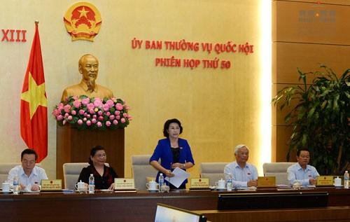 Bế mạc phiên họp thứ 50 của Ủy ban Thường vụ Quốc hội - ảnh 1