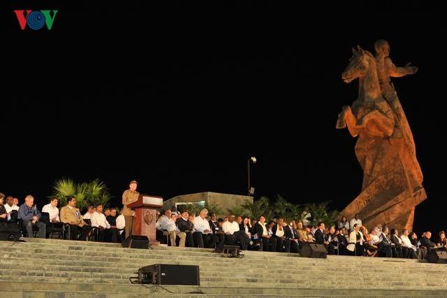 Hình ảnh lễ truy điệu Lãnh tụ Cuba Fidel Castro đầy cảm động - ảnh 4