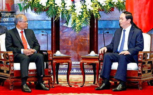 Chủ tịch nước tiếp Bộ trưởng Bộ Môi trường và Tài nguyên nước Singapore - ảnh 1