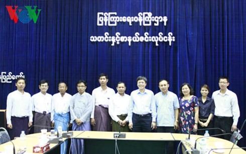 สถานีวิทยุเวียดนามผลักดันความร่วมมือกับเมียนมาร์และอินเดีย - ảnh 1