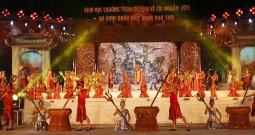 ពិធីបើកកម្មវិធី៖ ទេសចរណ៏មកប្រភពដើមនិង លើកដម្កើងចម្រៀង Xoan Phu Tho - ảnh 1