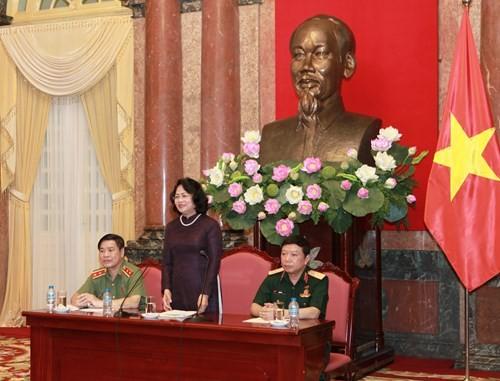 Phó Chủ tịch nước tiếp Đoàn đại biểu đoàn viên Công đoàn Quân đội nhân dân, Công an nhân dân - ảnh 1