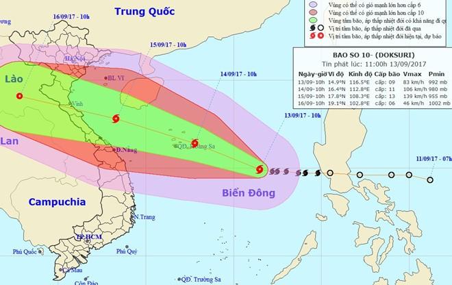 Chủ động theo dõi, ứng phó với bão Doksuri – cơn bão lớn nhất trong nhiều năm  - ảnh 1