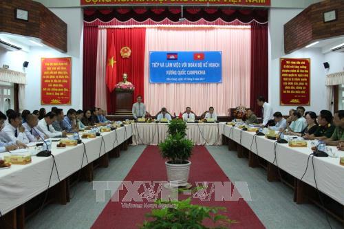 Đoàn công tác của Bộ Kế hoạch Campuchia làm việc tại tỉnh Hậu Giang - ảnh 1
