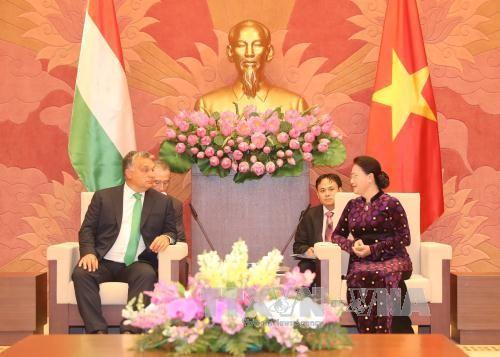 Chủ tịch Quốc hội Nguyễn Thị Kim Ngân tiếp Thủ tướng Hungary Orbán Viktor - ảnh 1