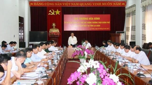 Phó Thủ tướng Trương Hòa Bình làm việc tại tỉnh Lai Châu  - ảnh 1