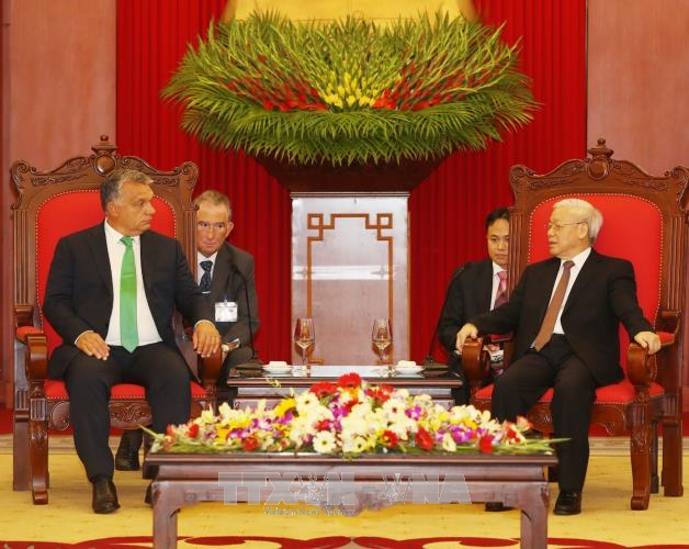 Tổng Bí thư Nguyễn Phú Trọng tiếp Thủ tướng Hungary Orbán Viktor  - ảnh 1