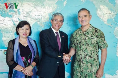 Đại sứ Việt Nam tại Hoa Kỳ thăm Bộ Chỉ huy Thái Bình Dương và bang Hawaii - ảnh 3