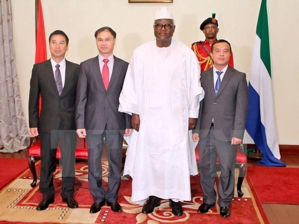 Việt Nam và Sierra Leone tăng cường hợp tác nhiều mặt - ảnh 1