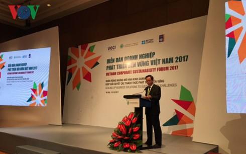 Diễn đàn Doanh nghiệp phát triển bền vững Việt Nam 2017 - ảnh 2