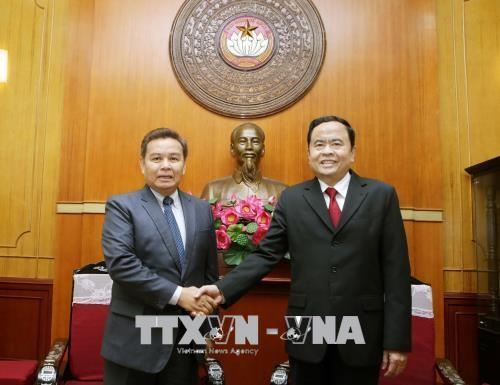 Thắt chặt mối quan hệ giữa hai tổ chức mặt trận Việt Nam - Lào  - ảnh 1