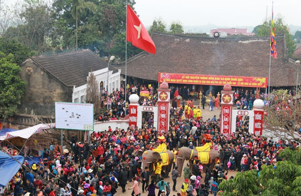 Elephant procession festival in Phu Tho - ảnh 1