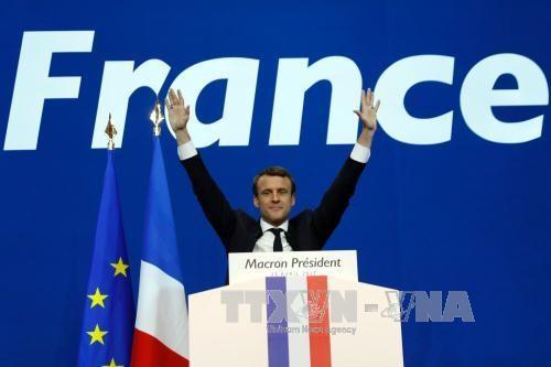 ថ្នាក់ដឹកនាំនៃបណ្ដាប្រទេសអបអរសាទរប្រធានាធិបតីបារាំងជាប់ឆ្នោត លោក E.Macron - ảnh 1