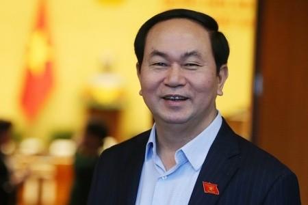 ប្រធានរដ្ឋវៀតណាមលោក Tran Dai Quang ទទួលជួបសន្ទនាប្រធានរដ្ឋសភាមីយ៉ាន់ម៉ា - ảnh 1