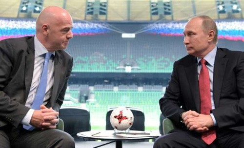 ប្រធានាធិបតីរុស្ស៊ីអះអាងថានឹងបង្កលក្ខណៈល្អបំផុតសំរាប់ FIFA Confederations Cup ២០១៧និង World Cup ២០១៨ - ảnh 1