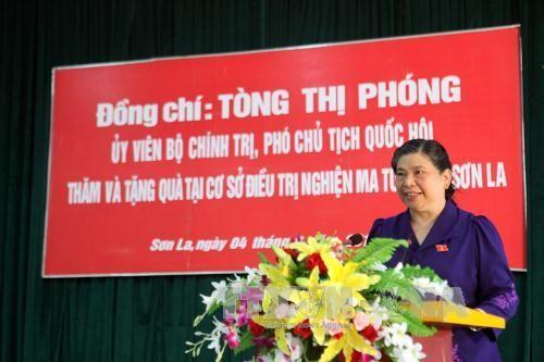អនុប្រធានរដ្ឋសភា លោកស្រី  Tong Thi Phong ធ្វើការនៅខេត្ត Son La - ảnh 1