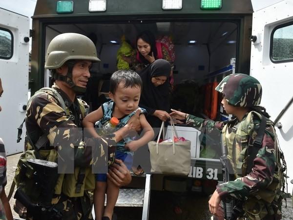 ហ្វីលីពីនប្រកាសការឈប់បាញ់មនុស្សធម៌នៅ Marawi - ảnh 1