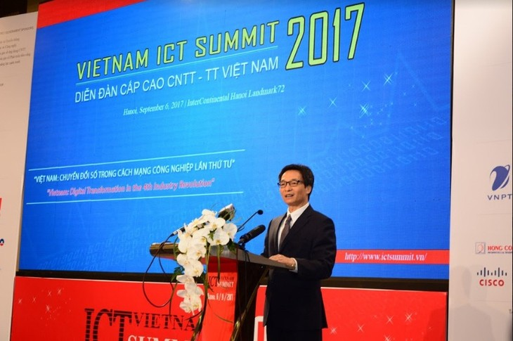 វេទិការជាន់ខ្ពស់បច្ចេកវិទ្យាព័ត៌មាន និងប្រព័ន្ធផ្សព្វផ្សាយវៀតណាម (Vietnam ICT Summit) ២០១៧ - ảnh 1