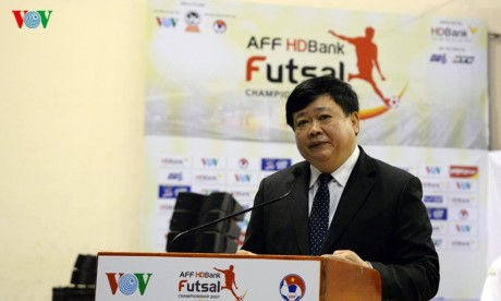 ប្រារព្ធពានរង្វាន់ Futsal ជើងឯកអាស៊ីអាគ្នេយ៍ HDBank ២០១៧ - ảnh 1