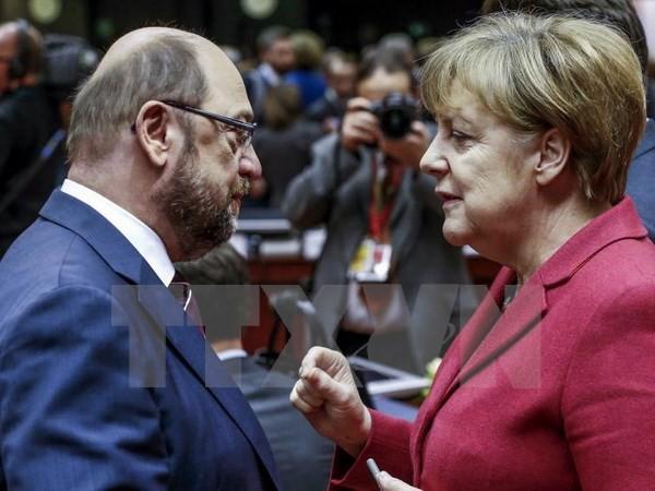 អាល្លឺម៉ង់៖ គណៈបក្ស SPD ដាក់សម្ពាធទៅលើអធិការបតី Merkel មុននឹងជំនួបចរចា - ảnh 1