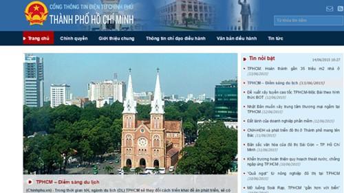 В эксплуатацию введена информационная страница г.Хошимина при электронном портале правительства - ảnh 1