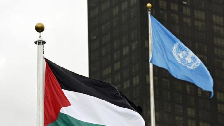 Флаг Палестины впервые поднят в штаб-квартире ООН - ảnh 1
