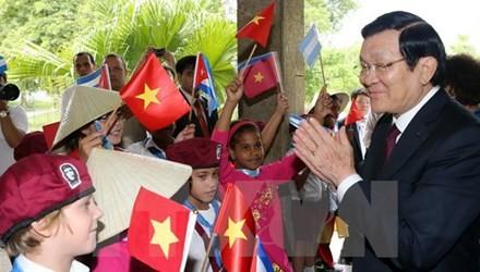 Президент СРВ Чыонг Тан Шанг завершил официальный визит на Кубу - ảnh 1