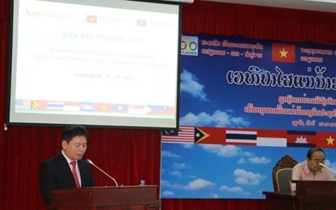 Во Вьентьяне открылся форум субрегиона реки Меконг 2015 года - ảnh 1
