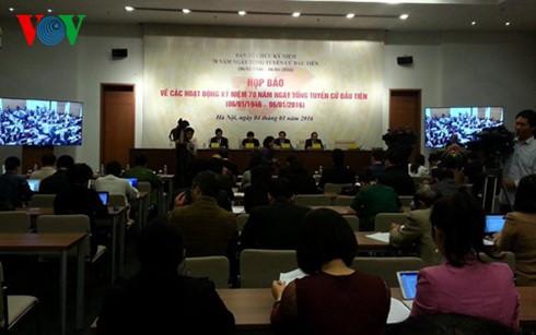 В Ханое прошла пресс-конференция по празднованию 70-летия первых всеобщих выборов - ảnh 1