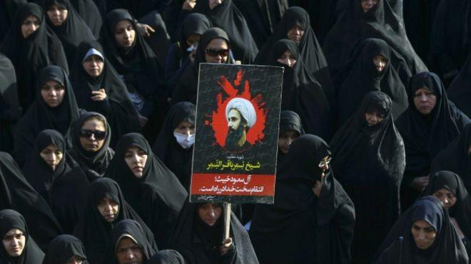 В Иране прошли акции протеста против казни шиитского проповедника в Саудовской Аравии - ảnh 1