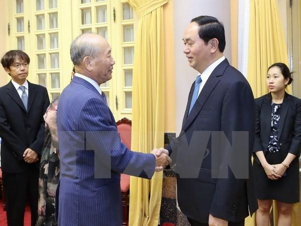 Президент СРВ принял зампредседателя Организации по содействию народной дипломатии Японии - ảnh 1