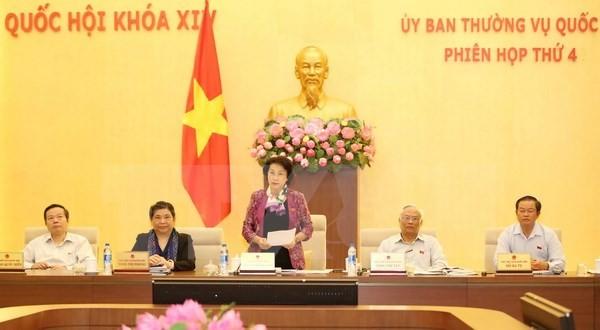 Завершилось 4-е заседание Постоянного комитета Национального собрания СРВ 14-го созыва - ảnh 1
