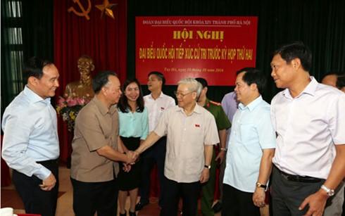Нгуен Фу Чонг встретился с избирателями ханойского района Тэйхо - ảnh 1