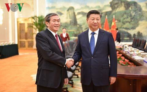 Председатель КНР принял постоянного члена Секретариата ЦК КПВ Динь Тхэ Хуиня - ảnh 1