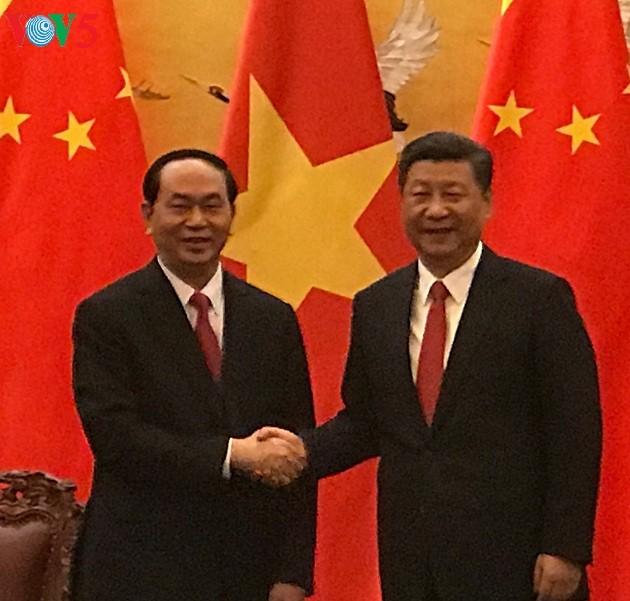 Президент СРВ Чан Дай Куанг провёл переговоры с председателем КНР - ảnh 1