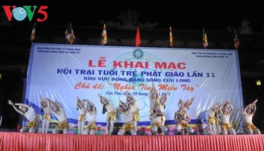 Молодёжный буддистский лагерь: человеколюбие в дельте реки Меконг - ảnh 4