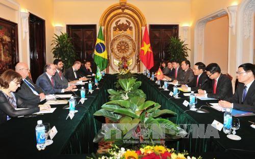 Вьетнамо-бразильские переговоры на уровне министров иностранных дел - ảnh 1