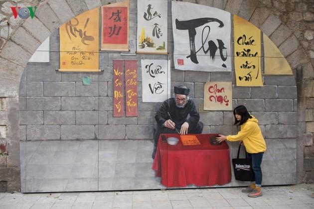 Картины на улице Фунг Хынг – пейзажи старого Ханоя - ảnh 2