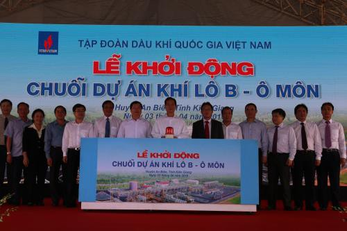 Prime Minister Nguyen Tan Dung launches the gas pipeline project for Block B – O Mon  - ảnh 1