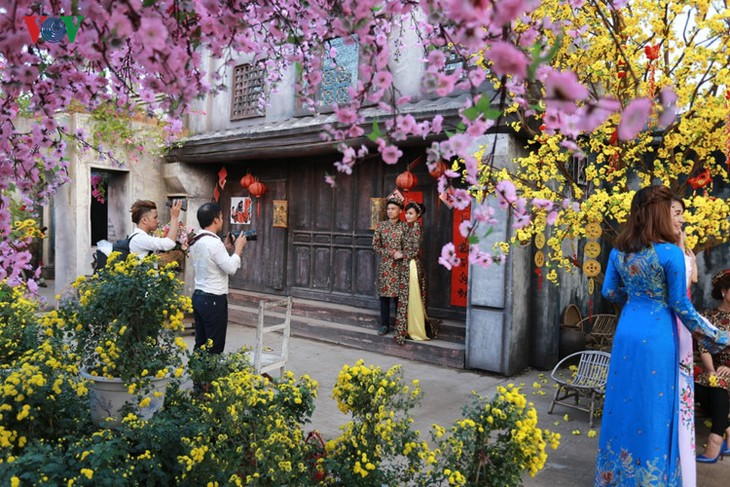 Hanoians visit flower villages as Tet holiday nears - ảnh 5