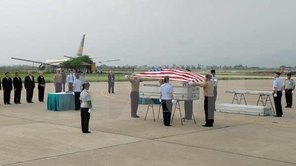 US servicemen's remains repatriated  - ảnh 1