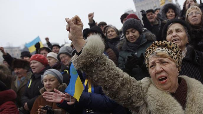 ฝ่ายค้านในยูเครนเตรียมให้แก่การชุมนุมครั้งใหญ่ในวันที่๑๖กุมภาพันธ์ - ảnh 1