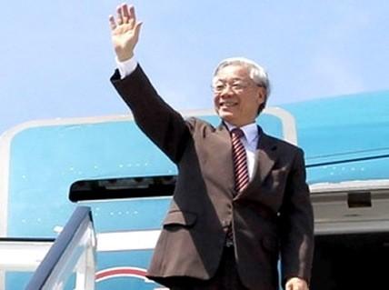 การเยือนสหรัฐของเลขาธิการใหญ่พรรคเปิดหน้าใหม่ให้แก่ความสัมพันธ์เวียดนาม-สหรัฐ - ảnh 1