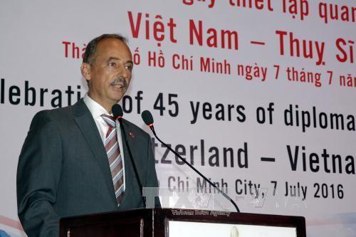 พิธีฉลองครบรอบ๔๕ปีการสถาปนาความสัมพันธ์ทางการทูตเวียดนาม-สวิตเซอร์แลนด์  - ảnh 1
