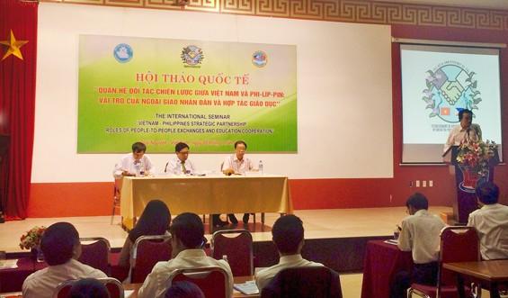 บทบาทของการทูตประชาชนและความร่วมมือด้านการศึกษาในความสัมพันธ์หุ้นส่วนยุทธศาสตร์เวียดนาม-ฟิลิปปินส์   - ảnh 1
