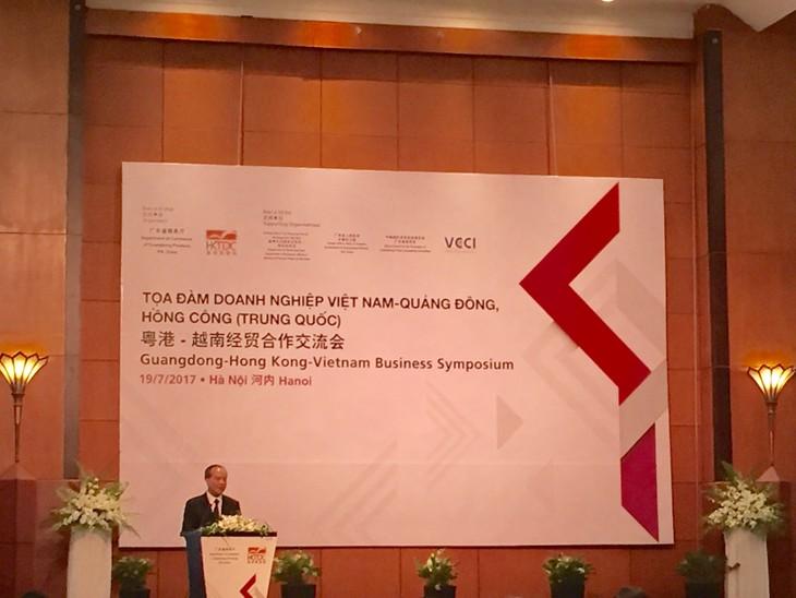 มณฑลกวางตุ้งและฮ่องกงมีบทบาทที่สำคัญในความร่วมมือระหว่างเวียดนามกับจีน - ảnh 1