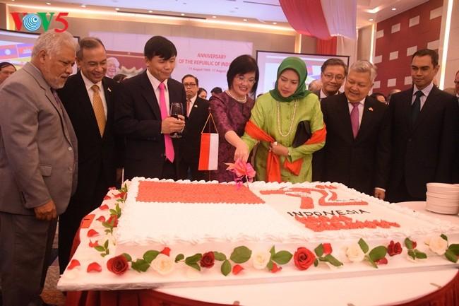 พิธีฉลองครบรอบ72ปีวันชาติอินโดนีเซีย - ảnh 1