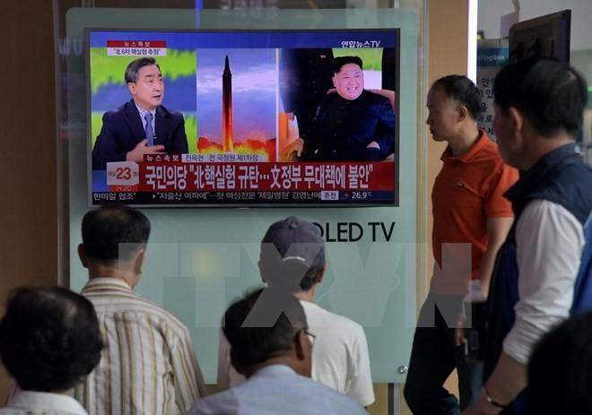 ประชาคมโลกคัดค้านและเพิ่มมาตรการคว่ำบาตรเพื่อรับมือกับการทดลองระเบิดไฮโดรเจนของเปียงยาง - ảnh 2