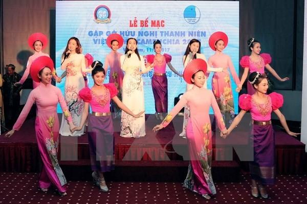 ปิดการพบปะสังสรรค์มิตรภาพเยาวชนเวียดนาม-กัมพูชาปี2017   - ảnh 1