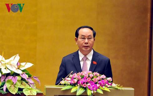 ประธานประเทศเวียดนามส่งจดหมายอวยพรไอป้า-38 - ảnh 1